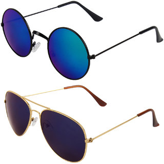 Zyaden Combo of Round And Clubmaster Sunglasses (Combo-233)