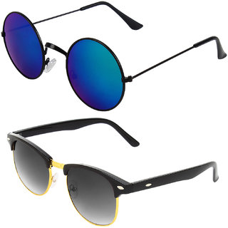 Zyaden Combo of Round And Clubmaster Sunglasses (Combo-238)