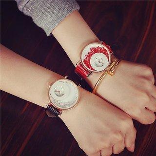combo of 2 pc diamond studded mxre watches