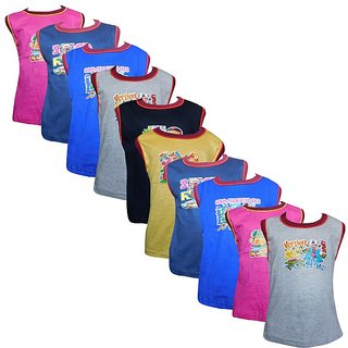 Jisha Fashion Boys Sleevless Tshirt(RKG-S10) ( Pack of 10 )