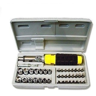 41 Pcs Screwdriver Kit (Combination Tool Set With Bits and Sockets)