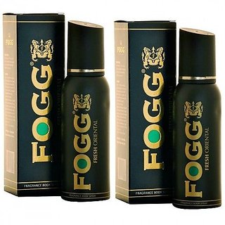 Fogg Fresh Aqua and Fresh Oriental Body Spray (Combo Set of 2) - For Men