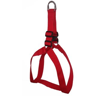 Petshop7 Nylon Dog Harness 1.25 Inch - Red for Large Dogs (Chest Size  28-36 Inch)