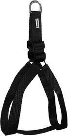 Petshop7 Nylon Dog Harness 1 Inch - Black (Chest Size  24-29 Inch) - Medium