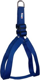 Petshop7 Nylon Blue Dog Harness Blue 1 Inch - Blue (Chest Size  24-29 Inch)