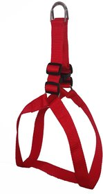 Petshop7 Nylon Dog Harness 1 Inch - Red (Chest Size  24-29 Inch) - Medium
