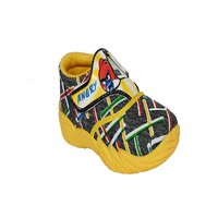 Atn Yellow Color Velcro Shoes For Kids Article Pluto