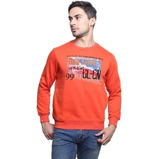 Jodifer Orange Round Sweatshirt