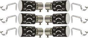 Black Stainless Steel Curtain Bracket pack of 12-3 pair
