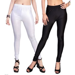 ladies leggings/satin lycra leggings/women legging/party wear leggings/Pack of 2
