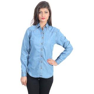 90d0a084b83c84 Buy Women/ Girls Latest Trendy High Quality Fashionable Denim Shirts ...