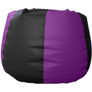UK Bean Bags Classic Bean Bag Cover Black/Purple Size XXXL