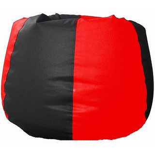 UK Bean Bags Classic Bean Bag Cover Red/Black Size XXXL