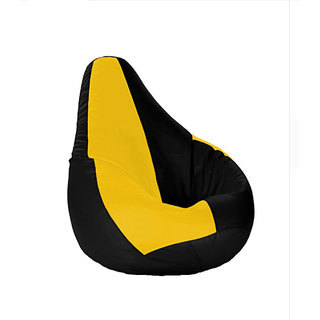 UK Bean Bags Classic Bean Bag Cover Yellow/Black Size XXXL