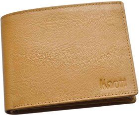 Knott yellow Exclusive Leather Wallet for Men