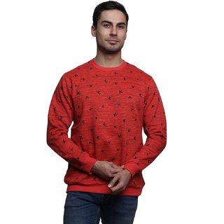 Jodifer Red Round Sweatshirt