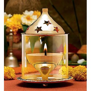 Brass Akahand Glass Table Diya