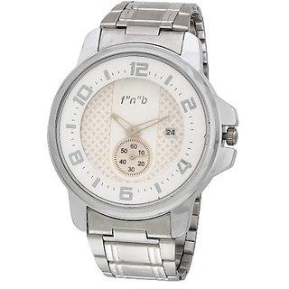 cf9240055d91 Buy fnb Analog White Dial Men s Watch-FNB0044 Online - Get 69% Off