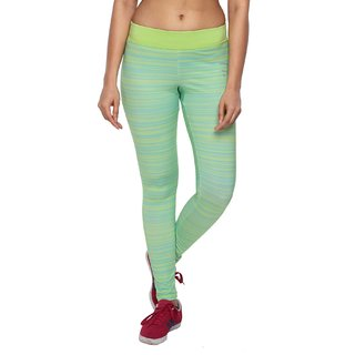 Piranha Women Multicoloured Striped Yoga Pants