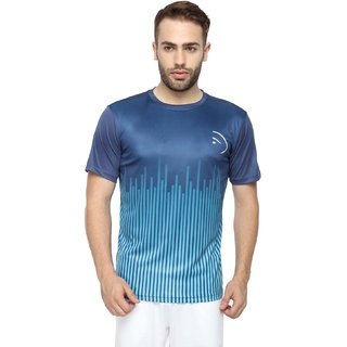 df7efcf42ff3b3 Buy Piranha Men Blue Printed Sports T-shirt Online   ₹1299 from ...