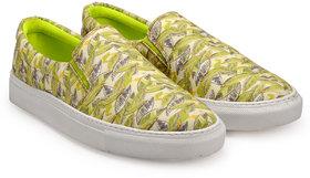 Juan David Men Green Slip On Casual Shoes