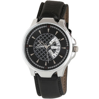 Eraa Men's Day and Date Premium Casual Analog Watch-EMGXBLK127