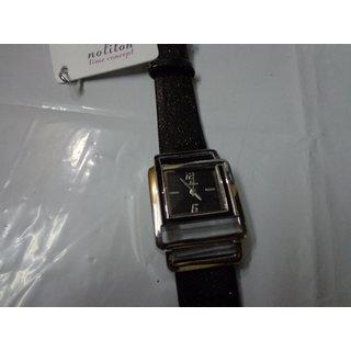 Designer Wrist Watch Black Dial Analog Leather Strap Best Gift For Women