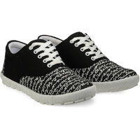 Juan David Men Black Lace-up Casual Shoes