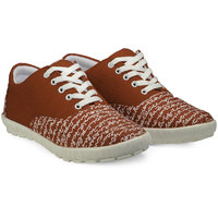 Juan David Men Red Lace-up Casual Shoes