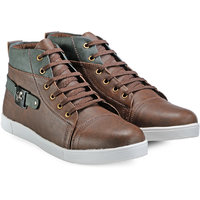Juan David Men Brown Lace-up Casual Shoes