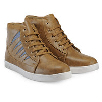 Juan David Men Beige Lace-up Casual Shoes