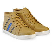 Juan David Men Olive Lace-up Casual Shoes
