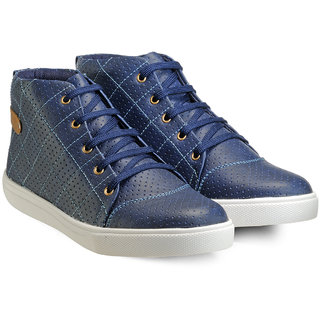 Juan David Men Blue Lace-up Casual Shoes