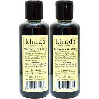 Khadi Rosemary  Heena Hair Oil (210ml x 2)