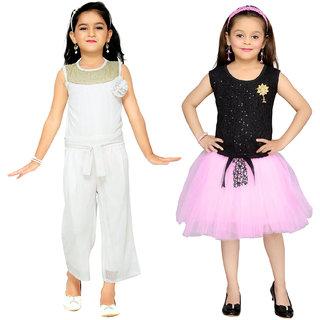 d42a436a0850 Buy Aarika Girls Self Design Party Wear Jumpsuit Online - Get 78% Off
