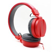 CORSECA DMHW3213 Single Pin Dynamic Wired Red Over the Ear Headphones With Mic