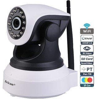 Sricam SP017 Wireless HD IP Wifi CCTV Watch LIVE DEMO right now indoor  Security Camera support upto 128 GB SD card