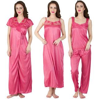 Buy Bombshell Pink Satin Nighty Online - Get -47% Off ac2cad157