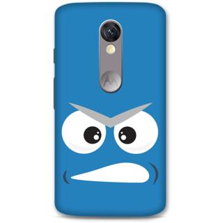 MOTO X FORCE Designer Hard-Plastic Phone Cover From Print Opera - Grumpy Face