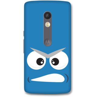 MOTO X Play Designer Hard-Plastic Phone Cover From Print Opera - Grumpy Face