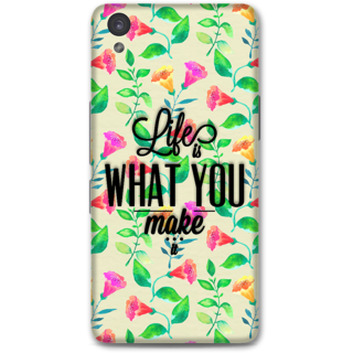 ONE PLUS X Designer Hard-Plastic Phone Cover From Print Opera - Life Is What You Make