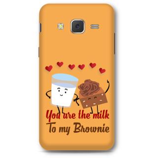 SAMSUNG GALAXY J5 2015 Designer Hard-Plastic Phone Cover From Print Opera - Milk & Brownie