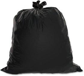 EzziDeals 150 piece Garbage Bag Medium Black Disposable Garbage / Dust Bin Bag (19X21 Inch)