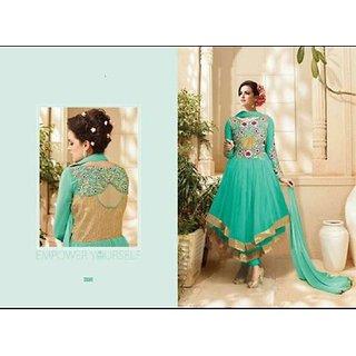 Women's Bangalory Silk Semi-Stiched Anarakali Suit