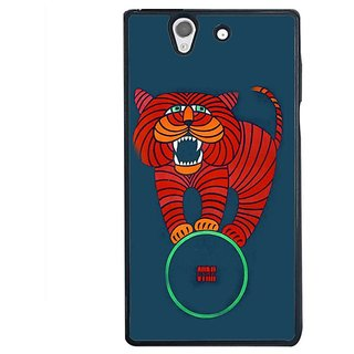 Fuson Designer Phone Back Case Cover Sony Xperia Z ( Lion In The Circus )
