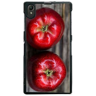 Fuson Designer Phone Back Case Cover Sony Xperia Z1 ( Two Red Apples On Display )