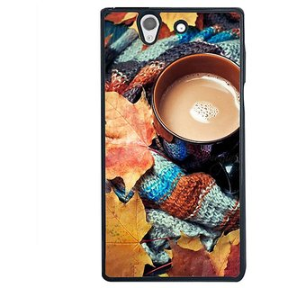 Fuson Designer Phone Back Case Cover Sony Xperia Z ( Cozy Cup Of Coffee )
