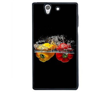Fuson Designer Phone Back Case Cover Sony Xperia Z ( Capsicums In The Water )
