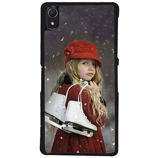 Fuson Designer Phone Back Case Cover Sony Xperia Z2 ( Girl With Her White Skates )