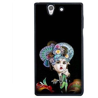 Fuson Designer Phone Back Case Cover Sony Xperia Z ( Little Krishna In Painting )